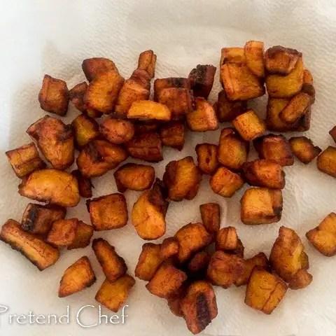 fried plantain for gizdodo, gizzard and plantain