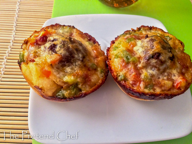 Simple and Easy pizza muffin