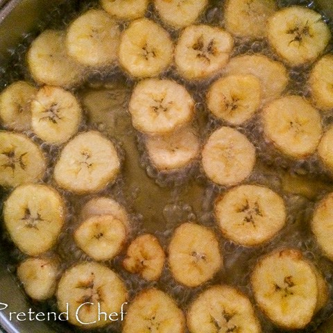 plantain slices for Fried plantains recipe