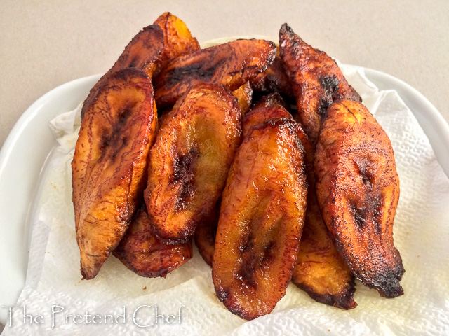 very ripe plantain slices for Fried plantains recipe
