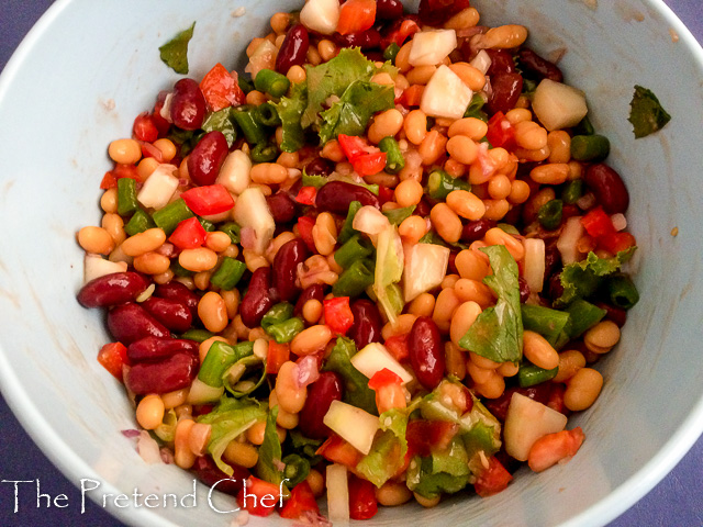 Mixed Beans salad without dressing
