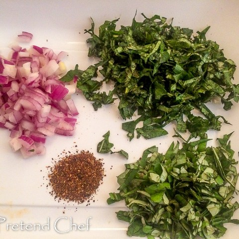chopped vegetables for Green leafy vegetable rice