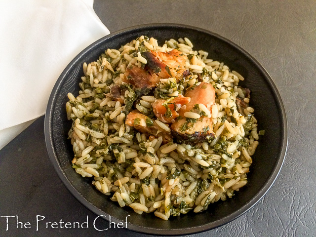 Healthy and aromatic Green leafy vegetable rice