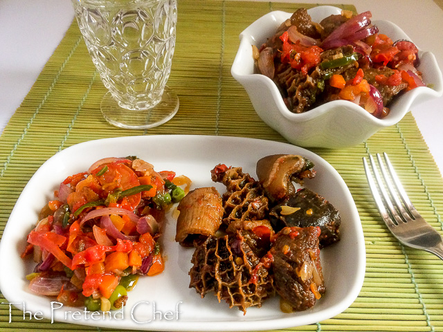 peppered mixed meat