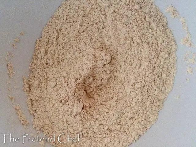 flour and turmerics
