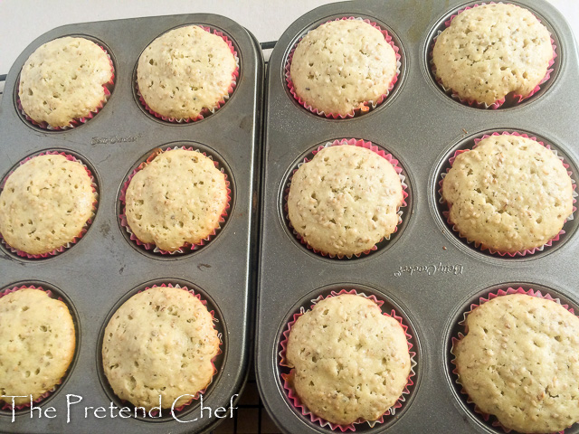 Rich and Nutty Sesame seed muffins, Ridi muffins