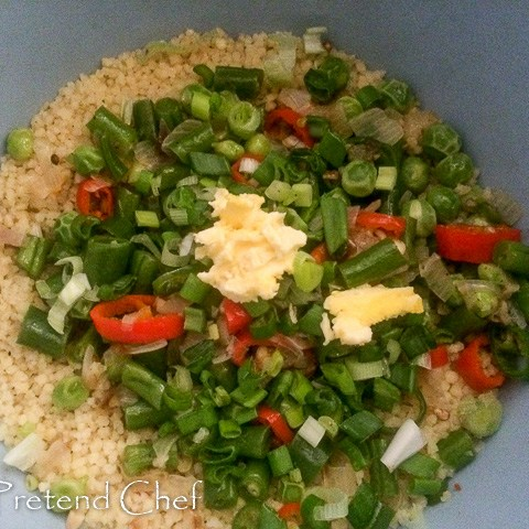 vegetable couscous in a bowl