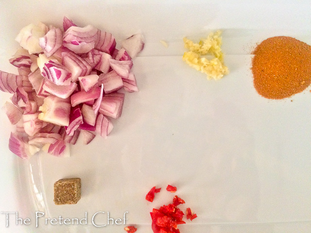 Ingredients for yellow rice