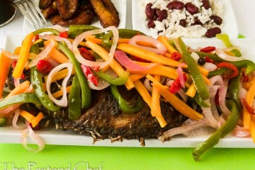 Spicy and tangy Jamaican escovitch fish
