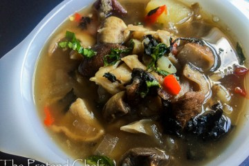 Healthy and flavour packed Mushroom Pepper soup