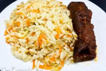 Healthy vegetable rice