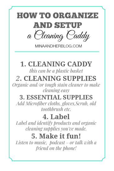 How To Organize and Setup a Cleaning Caddy by Mina and Her Blog