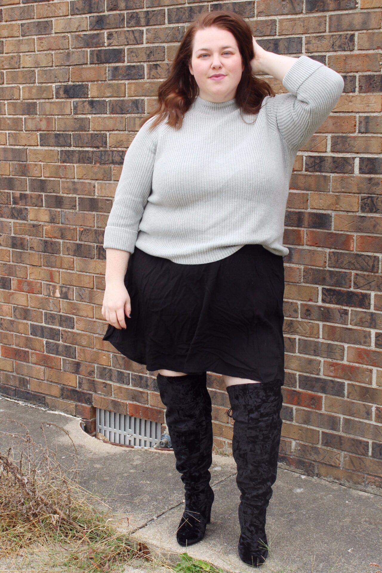 Knee Boots - Plus Size OOTD