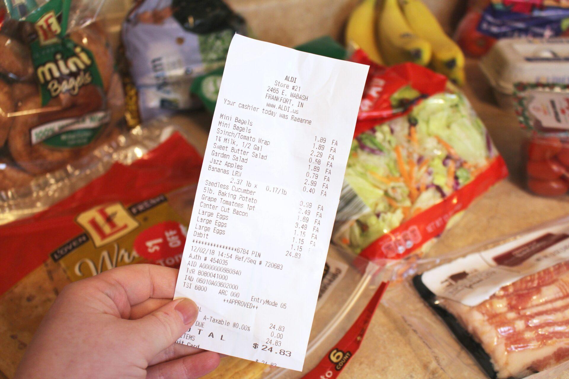 The Pretty Plus - $25 1 Week Aldi Haul & Grocery Plan - 12/3