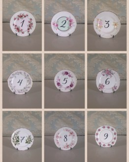 vintage table number hire auckland