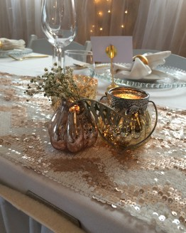 gold tealight holder hire