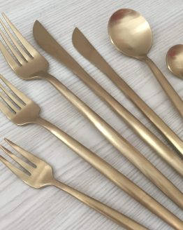 matte gold cutlery hire new zealand