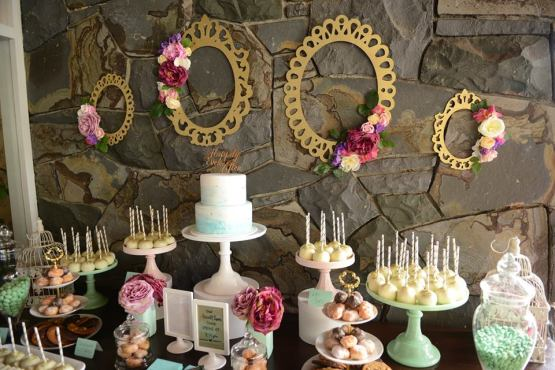 pink green cake stand hire candy buffet jar hire