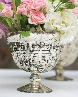 silver compote vase hire