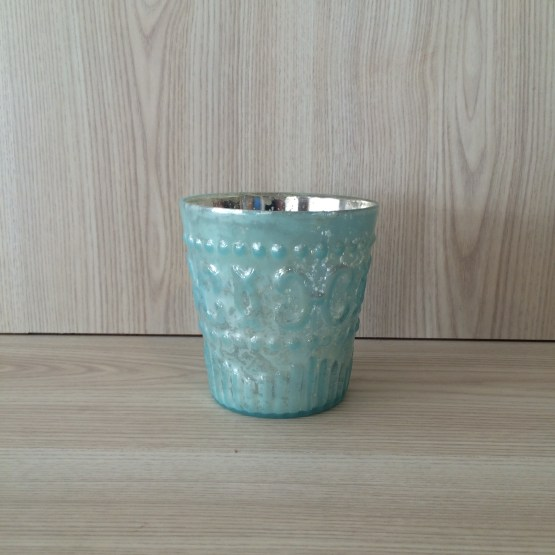 blue tealight holder hire