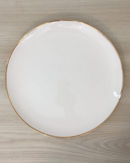gold rim dinner plate hire nz