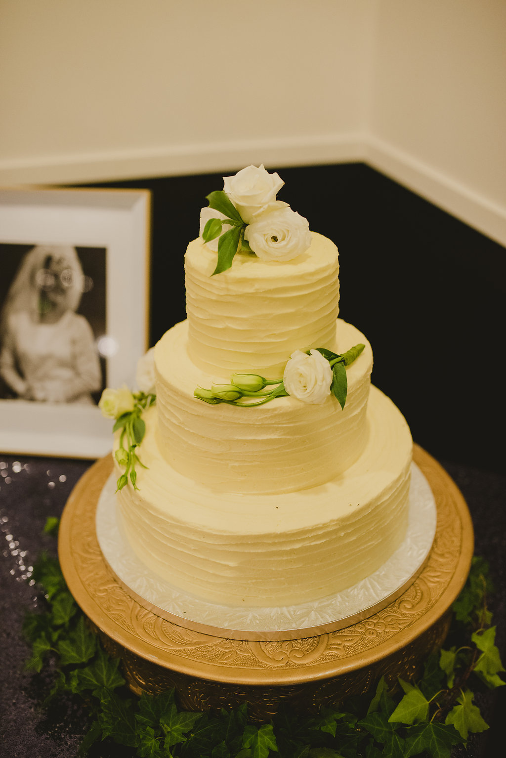 Cake Plateau - Matte Gold | The Pretty Prop Shop Wedding and Event Hire