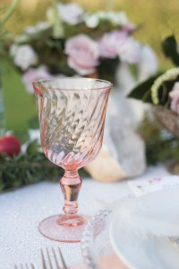 rosaline pink glass hire