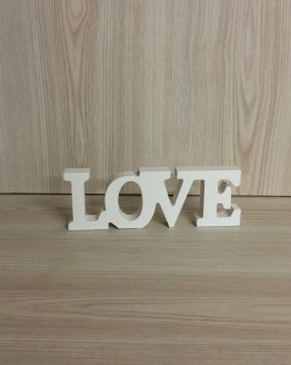 love wooden block sign