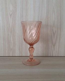 rosaline pink wine goblet hire nz
