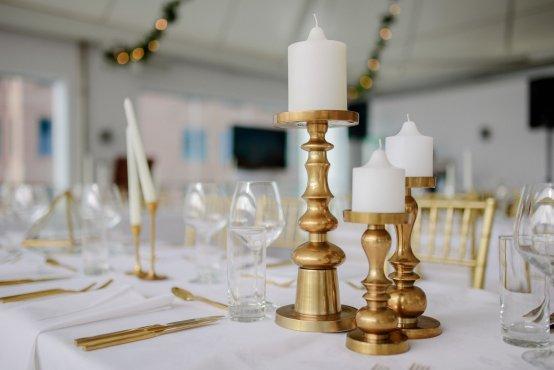 brass pillar candleholder hire nz