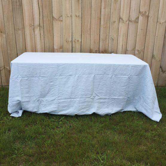 stonewash linen tablecloths pale blue