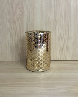 TRELLIS HURRICANE LAMP GOLD