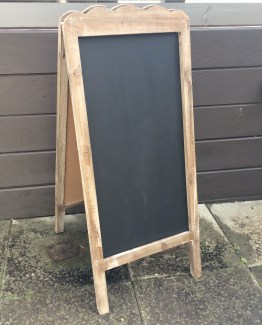 wooden chalkboard hire nz