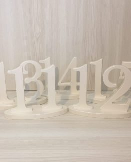 white wooden table number hire auckland new zealand