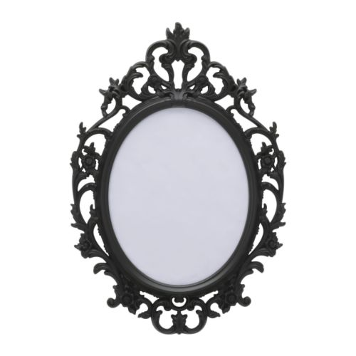 Oval Baroque Frame - Black | The Pretty Prop Shop Wedding and Event Hire