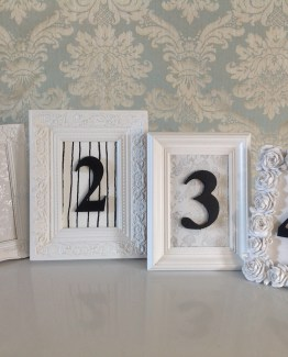 black and white table number hire auckland new zealand