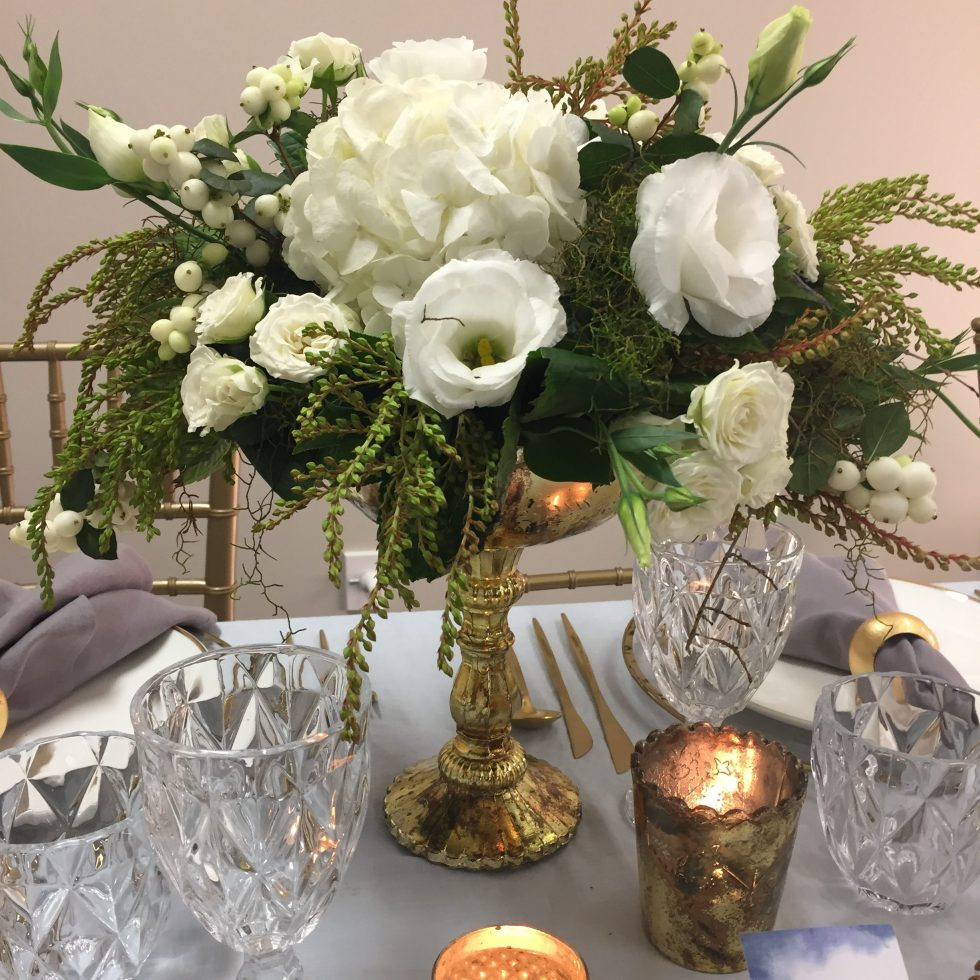 gold compote vase hire nz