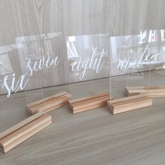 acrylic table number nz