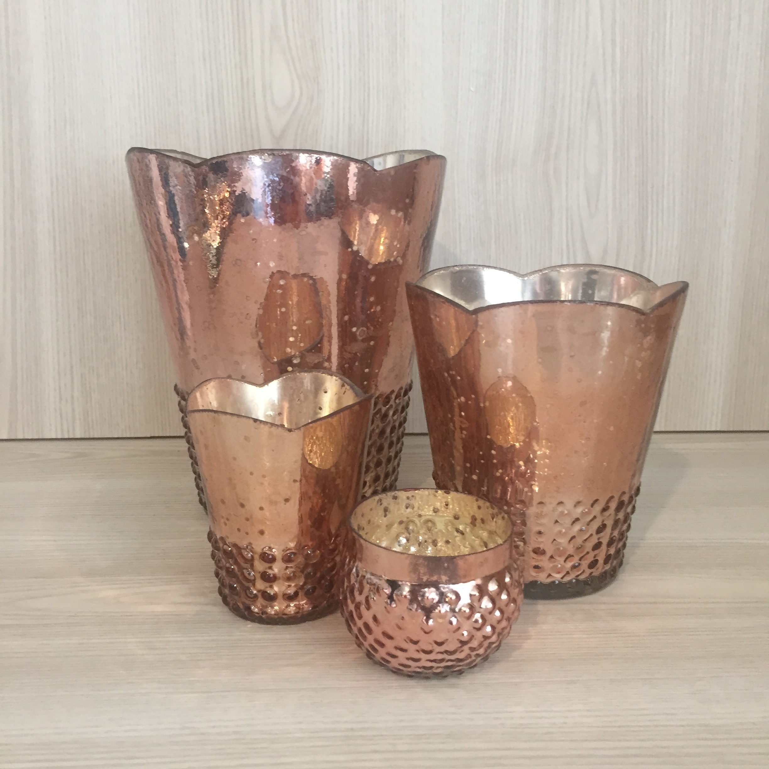Dotted mercury glass vase rose gold the pretty prop shop rose gold mercury glass reviewsmspy