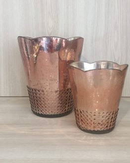 rose gold vase hire