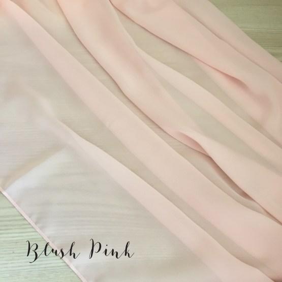 blush pink chiffon table runner