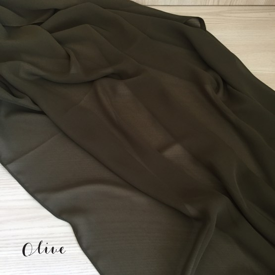 olive chiffon table runner