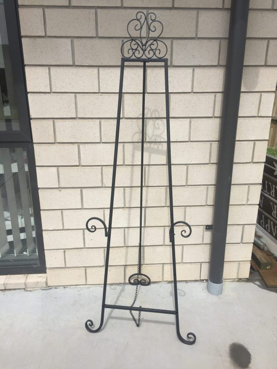 wrought iron easel hire nz