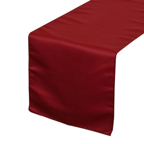dark red table runner hire