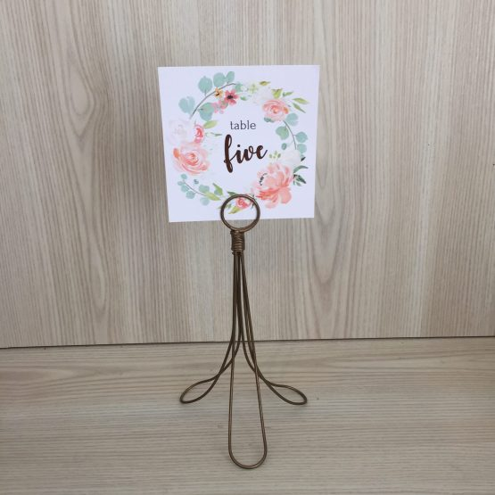 brass table number holder hire nz