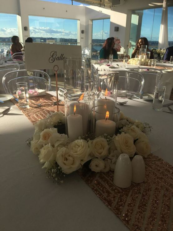 sequin table runner hire auckland