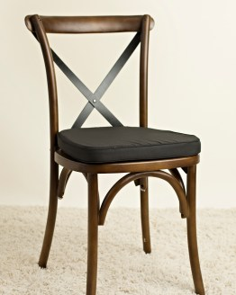 brown crossback chair hire auckland