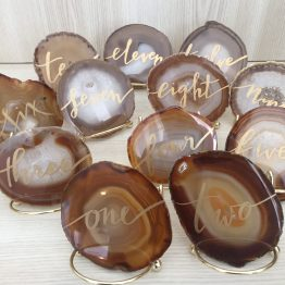 hire agate slice table numbers