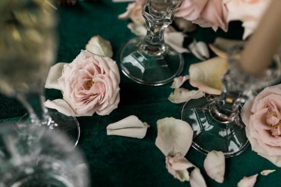 copper and emerald wedding
