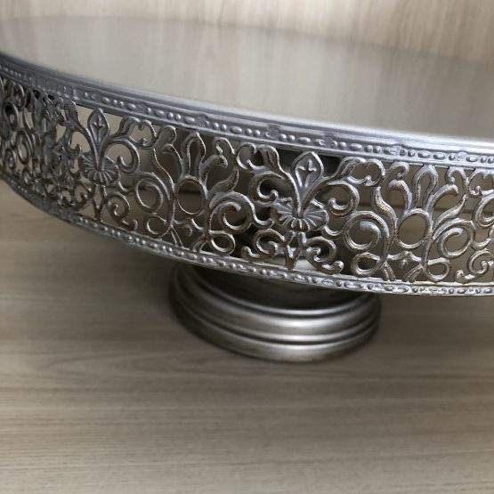 silver cake stand hire auckland
